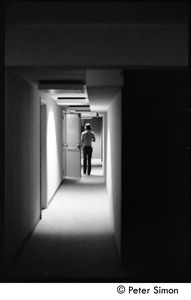 Thumbnail of Mick Jagger walking down a hallway, backstage on Saturday Night Live