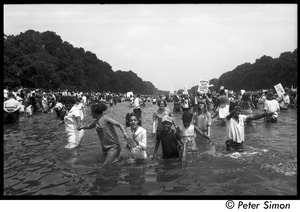 Thumbnail of Splashing in the Reflecting Pond during the Poor Peoples' Campaign Solidarity Day