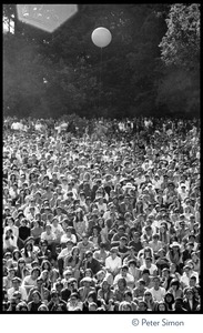 Thumbnail of View of the audience as Jefferson Airplane performs at the Fantasy Fair and Magic Mountain Music             Festival, Mount Tamalpais