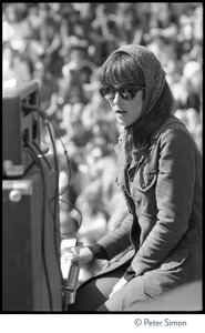 Thumbnail of Jefferson Airplane performing at the Fantasy Fair and Magic Mountain Music             Festival, Mount Tamalpais Grace Slick playing keyboard (staring blankly)