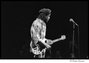 Thumbnail of Peter Tosh, with guitar, performing on Saturday Night Live
