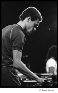 Thumbnail of Robbie Lyn, keyboard player for Peter Tosh, performing on Saturday Night Live