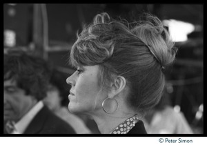 Thumbnail of Jane Fonda at the Musicians United for Safe Energy concert Close-up portrait in profile