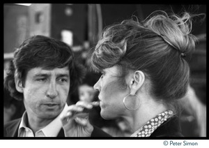 Thumbnail of Jane Fonda and Tom Hayden at the Musicians United for Safe Energy concert