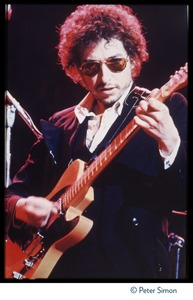 Thumbnail of Bob Dylan playing electric guitar