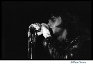 Thumbnail of Jim Morrison (The Doors), performing at the Crosstown Bus
