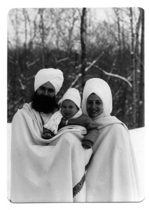Thumbnail of Gurushabd Singh, Gurushabd Kaur, with Sat Narayan Singh in the middle