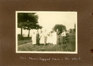 Thumbnail of The  three-legged race -- the start