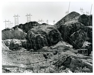 Thumbnail of High volt wires below dam