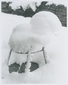 Thumbnail of Metal chair under snow blanket