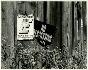 Thumbnail of No trespassing at Wagner Farm
