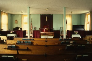 Thumbnail of Wendell Bicentennial slide show Interior, Central Congregational Church