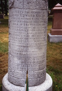 Thumbnail of Mt. Hope Cemetery (Boston, Mass.) gravestone: Kelly, John Edward (d. 1884)