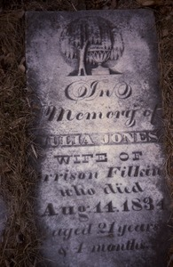 Thumbnail of Albany Rural Cemetery (Menands, N.Y.) gravestone: Jones, Julia (d. 1834)