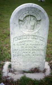 Thumbnail of New Prospect Cemetery (Mississippi) gravestone: Grimes, Eulalah (d. 1868)