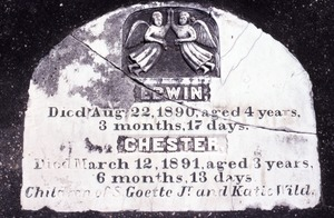 Thumbnail of Ascension Cemetery (Donaldsonville, La.) gravestone: Goette, Edwin and Chester