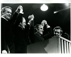 Thumbnail of McGovern, Humphery, Muskie, and Eagleton at the Democratic National Convention