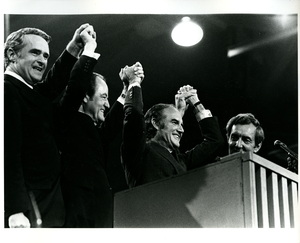 a national convention in chicago illinois between hubert humphrey and edmund muskie on the topic of