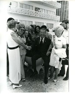 Thumbnail of Scoop Jackson with  supporters in Miami