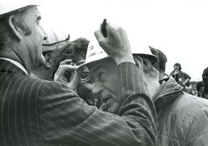 Thumbnail of George McGovern signing hard hat