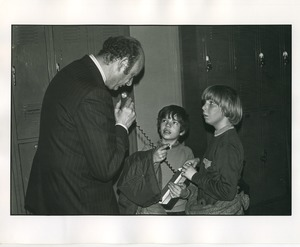 Thumbnail of Mayor Ed Koch interviewed by two children