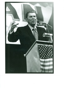 Thumbnail of Ronald Reagan at podium