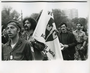 Thumbnail of Vietnam Veterans Against the War carry their banner