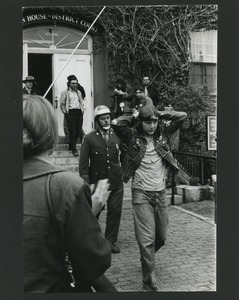 Thumbnail of Young man arrested at Vietnam Veterans Against the War demonstration