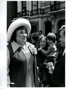 Thumbnail of Bella Abzug with woman and child