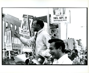 Thumbnail of Allard Lowenstein and Herman Badillo campaigning