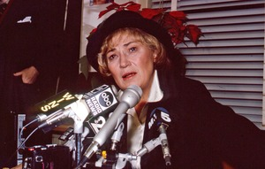 Thumbnail of Bella Abzug speaking at the MS magazine office press conference