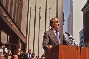 Thumbnail of George McGovern addressing rally for Soviet Jewry