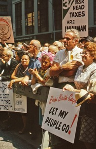 Thumbnail of Demonstrators at rally for Soviet Jewry