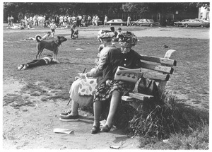 Thumbnail of Two women on a park bench in Cambridge