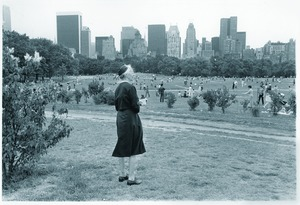Thumbnail of Woman overlooking Sheep Meadow in Central Park