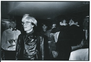 Thumbnail of Andy Warhol at party