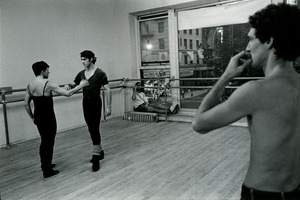 Thumbnail of Dancers and chroeographer in rehearsal