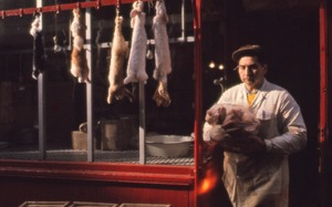 Thumbnail of Dead rabbits in butcher shop