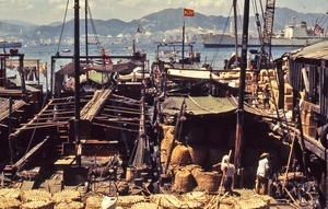 Thumbnail of Older boats near Hong Kong harbor