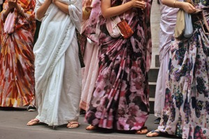 Thumbnail of Saris of the Hare Krishna women
