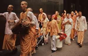 Thumbnail of Hare Krishna devotees on the move
