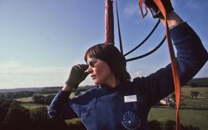 Thumbnail of Gail Roy flying her hot air balloon