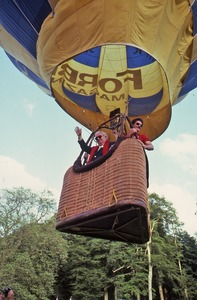 Thumbnail of Henry Grunwald in hot air balloon