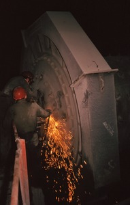 Thumbnail of Two workers welding