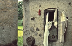 Thumbnail of Laundry hanging by a window