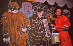 Thumbnail of Noel Oard Mapstead and his mural