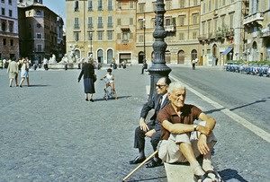 Thumbnail of Two men at the Piazza Navona