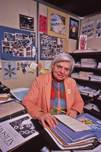 Thumbnail of Delores Krieger at her desk