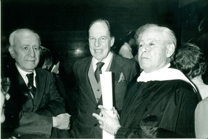 Thumbnail of Ira Hirschmann, Carl Henry, and friend