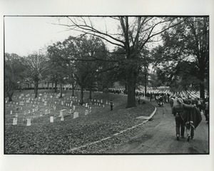 Thumbnail of Marching through Arlington National Cemetery